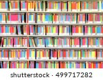 blurred background. book on the ... | Shutterstock . vector #499717282
