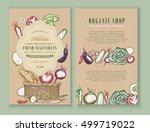vegetables farmers market... | Shutterstock .eps vector #499719022