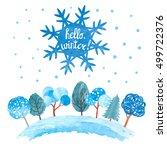 hello winter vector... | Shutterstock .eps vector #499722376