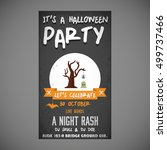 it's a halloween party. let's... | Shutterstock .eps vector #499737466