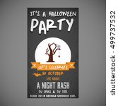 it's a halloween party. let's... | Shutterstock .eps vector #499737532