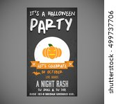 it's a halloween party. let's... | Shutterstock .eps vector #499737706