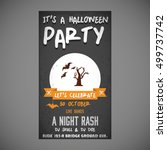 it's a halloween party. let's... | Shutterstock .eps vector #499737742