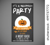 it's a halloween party. let's... | Shutterstock .eps vector #499737772