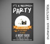 it's a halloween party. let's... | Shutterstock .eps vector #499737856