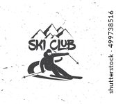 ski club concept with skier who ...