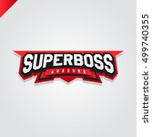 awesome super boss or director... | Shutterstock .eps vector #499740355
