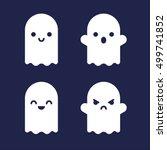 cute halloween cartoon ghosts.... | Shutterstock .eps vector #499741852