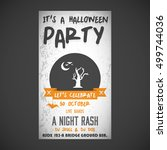 it's a halloween party. let's... | Shutterstock .eps vector #499744036