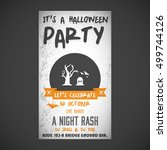 it's a halloween party. let's... | Shutterstock .eps vector #499744126