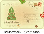 vintage postcard with christmas ...   Shutterstock .eps vector #499745356