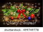 christmas decoration with candy ...   Shutterstock .eps vector #499749778