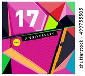 17th years greeting card... | Shutterstock .eps vector #499755505