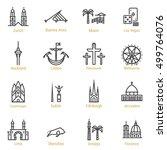 zurich  buenos aires  miami ... | Shutterstock .eps vector #499764076