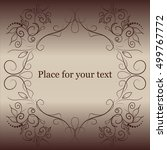 ornamental vector frame beige... | Shutterstock .eps vector #499767772