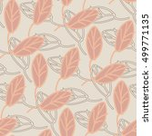 leaves seamless pattern. vector ... | Shutterstock .eps vector #499771135