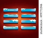 glossy blue christmas web... | Shutterstock .eps vector #499771546
