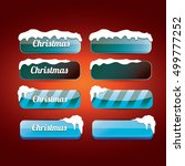 glossy blue christmas web... | Shutterstock .eps vector #499777252