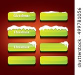 green christmas web buttons set.... | Shutterstock .eps vector #499781056