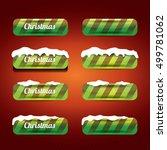 green christmas web buttons set.... | Shutterstock .eps vector #499781062