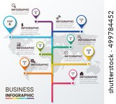 timeline infographics design... | Shutterstock .eps vector #499784452