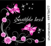 flower ornament with butterfly | Shutterstock .eps vector #49978477