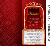 vector layout of invitation