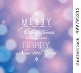 vector merry christmas and... | Shutterstock .eps vector #499795312