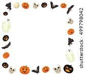 halloween elements frame on... | Shutterstock . vector #499798042