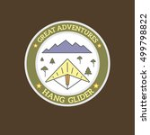 vector logo of adventure and... | Shutterstock .eps vector #499798822