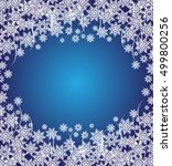 abstract white snow background... | Shutterstock .eps vector #499800256