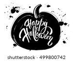 pumpkin happy halloween | Shutterstock .eps vector #499800742