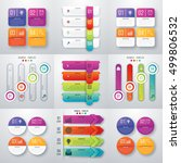 set with infographics. data and ... | Shutterstock .eps vector #499806532