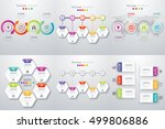 set with infographics. data and ... | Shutterstock .eps vector #499806886