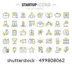 set vector line icons startup... | Shutterstock .eps vector #499808062