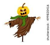 scarecrow for halloween... | Shutterstock .eps vector #499820416