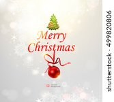 christmas abstract background.... | Shutterstock .eps vector #499820806