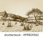 Harvest Landscape Farm Field...