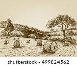 Harvest Landscape Farm Field...
