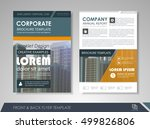front and back page annual... | Shutterstock .eps vector #499826806