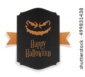 halloween realistic party... | Shutterstock .eps vector #499831438