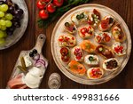 crostini with different... | Shutterstock . vector #499831666