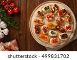 crostini with different... | Shutterstock . vector #499831702