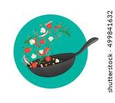 cooking process vector... | Shutterstock .eps vector #499841632