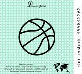basketball icon | Shutterstock .eps vector #499842262