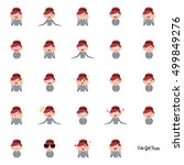 girl expression faces | Shutterstock .eps vector #499849276