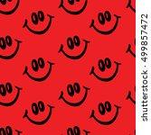 smile vector pattern on red...   Shutterstock .eps vector #499857472