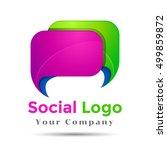 colorful vector 3d volume logo... | Shutterstock .eps vector #499859872