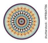 color floral mandala  vector... | Shutterstock .eps vector #499864786