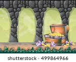 cartoon vector cave with...